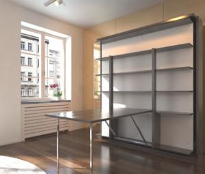 Italian Wall Bed Revolving Bookcase Murphysofa Smart