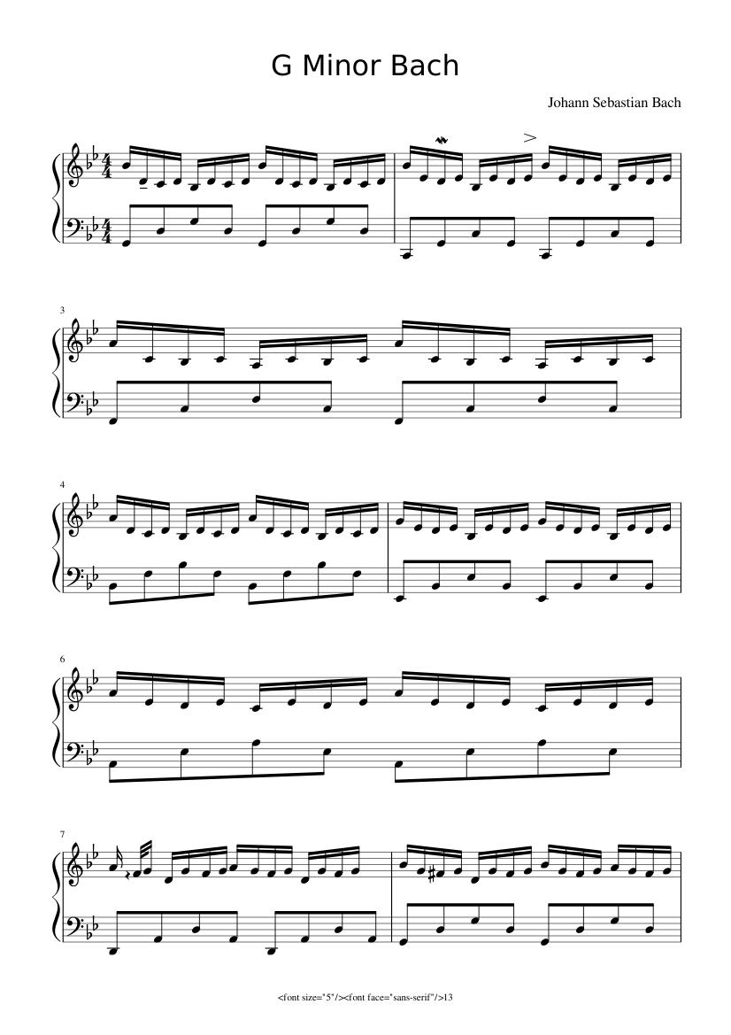 Bach Sheet Double Music