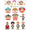 Review gambar Paul Frank travel box stickers