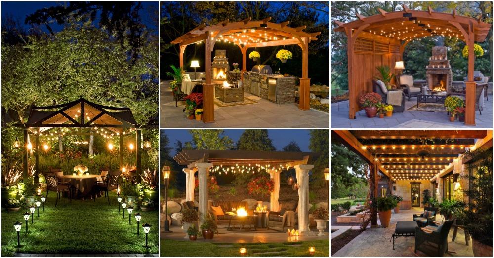 Backyard String Lighting Ideas