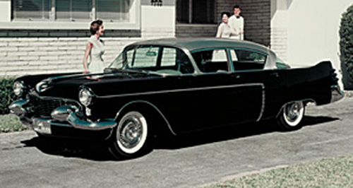 1950 s Cadillac Dream Cars and Concepts The 1954 Cadillac Park Avenue concept  was a four door pillarless  fiberglass sedan built on the 133 inch wheelbase chassis of the 60 Special  series and was