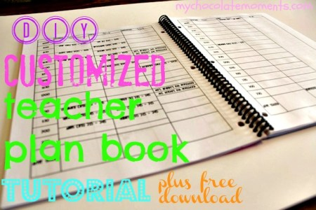 DIY customized lesson planner tutorial DIY teacher plan book download