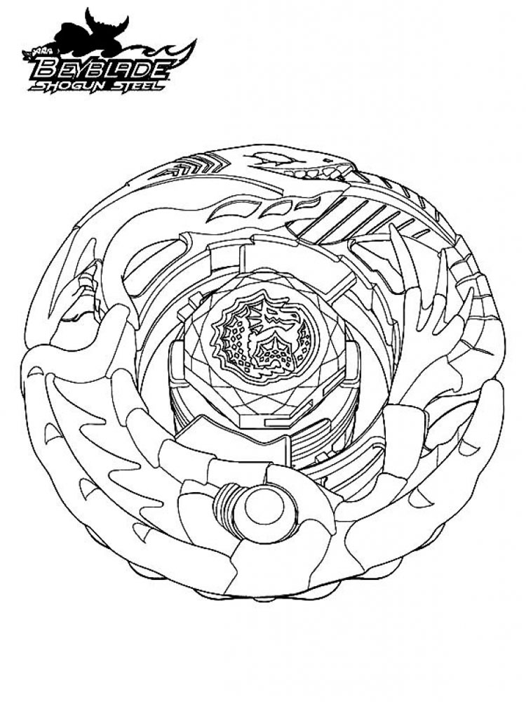 Beyblades Coloring Pages Boys