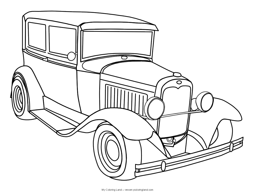 Printable Coloring Pages Clic Cars Coloring Page
