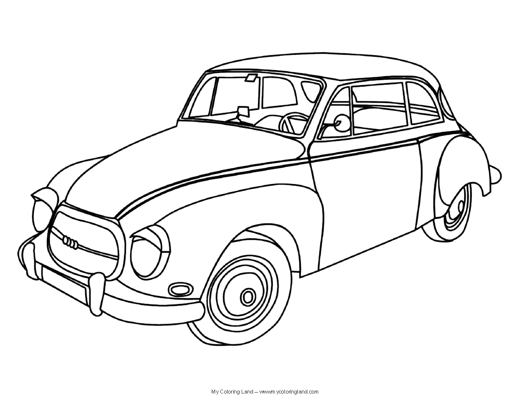 Vintage Car Coloring Pages