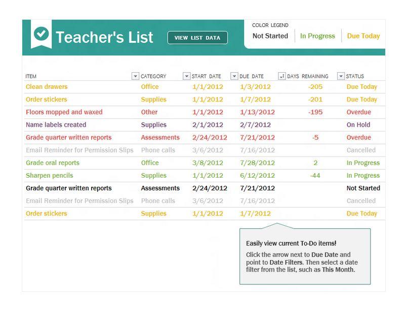 Loan Checklist Template