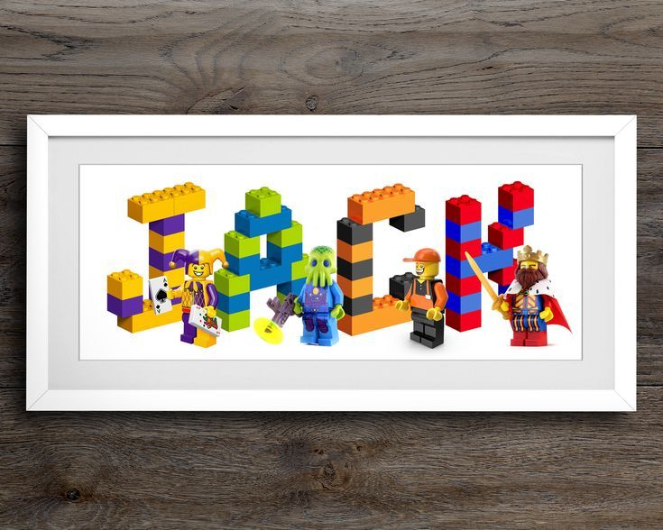 Personalised Gifts Ideas   Lego Minifigure Name Print   Lego Nursery     Lego Minifigure Name Print   Lego Nursery Decor   Lego Nursery Wall Art    Person