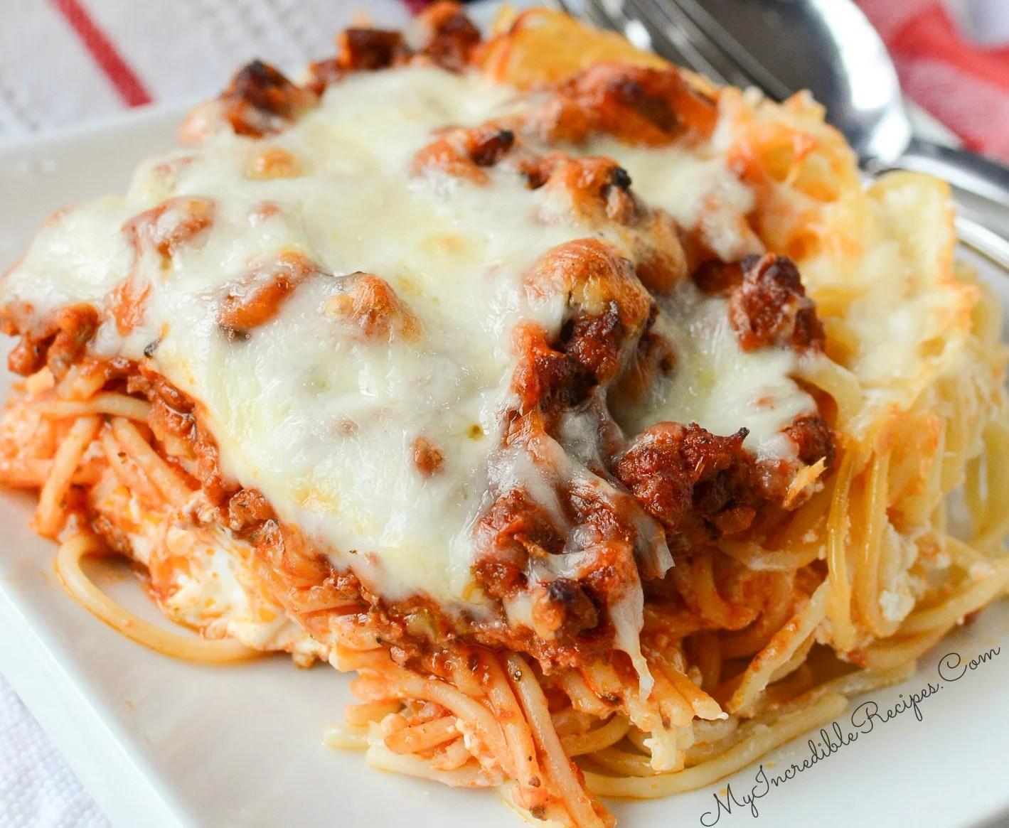 Facebook Recipe Million Dollar Spaghetti
