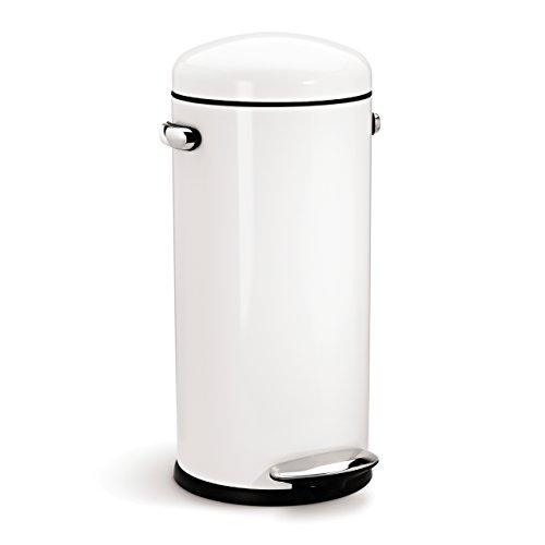 White Kitchen Pedal Bin