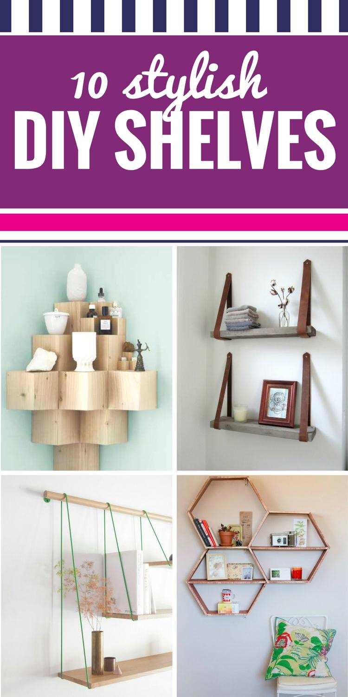 10 Stylish DIY Shelves - My Life and Kids
