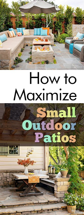 How to Maximize Small Outdoor Patios   My List of Lists How to Maximize Small Outdoor Patios  Patio Ideas  Patio Decorating Ideas  Outdoor  Patio
