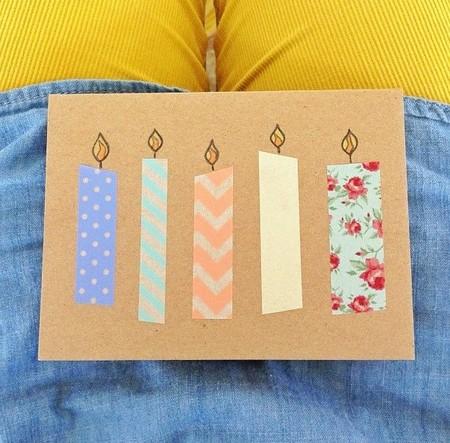 Kerzen aus dekorativem Klebstreifen