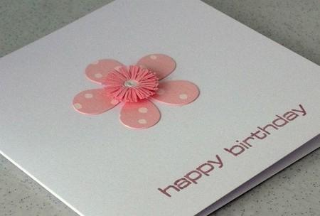 Grußkarte mit sanfter Blume