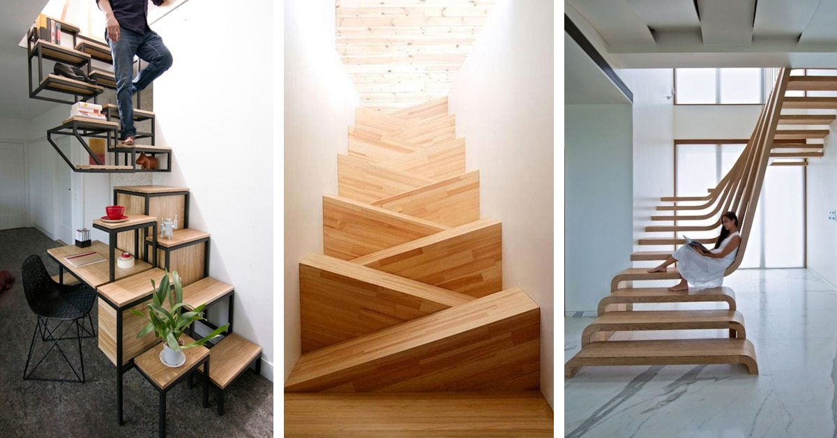 30 Examples Of Modern Stair Design That Are A Step Above The Rest | Staircase Design Near Me | Stair Treads | Spiral Staircase | Interior Design | Living Room | Stairbox