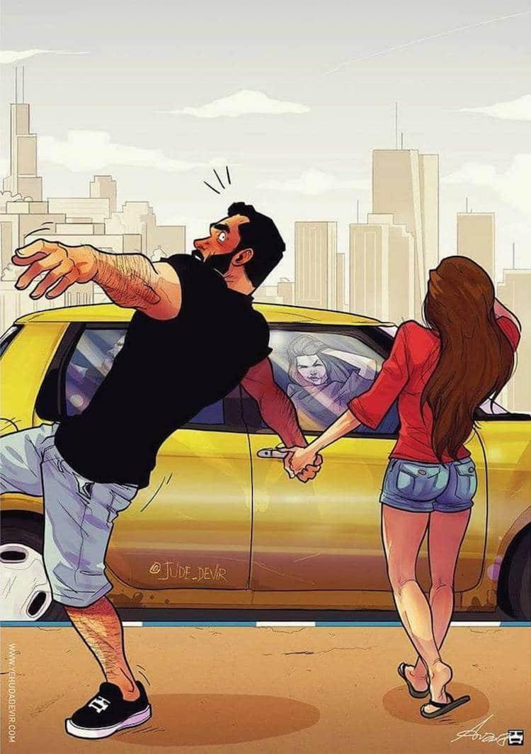 Relationship Goals Cute Couple Cartoon