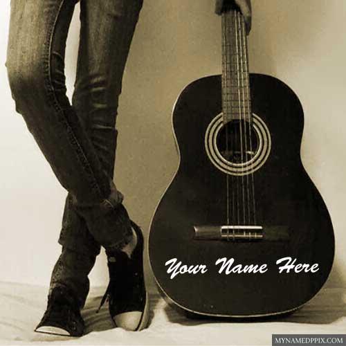 Cool Rocking Music Boy Write Name Profile Image My Name