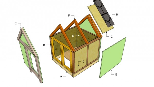 Insulated Dog House Plans   MyOutdoorPlans   Free Woodworking Plans     Insulated dog house plans free