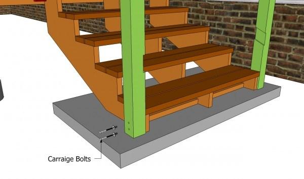 Deck Stair Railing Plans Myoutdoorplans Free Woodworking Plans | Installing Deck Stair Railing | Outdoor Stair | Baluster | Railing Ideas | Stair Treads | Stair Stringers