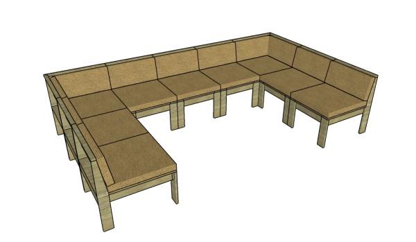 Outdoor Sectional Sofa Plans Myoutdoorplans Free
