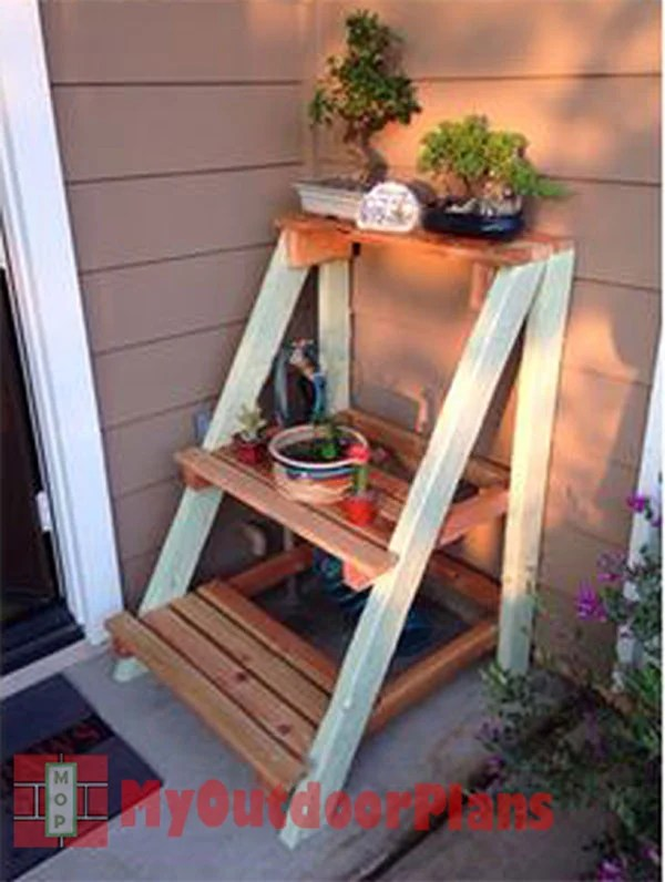Outdoor Plant Stand Myoutdoorplans Free Woodworking