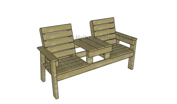 Jack And Jill Wooden Garden Seat