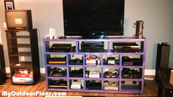 Diy Video Game Console Storage Myoutdoorplans Free