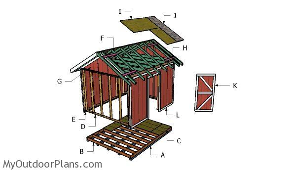 10x12 shed roof plans myoutdoorplans free woodworking, 10x12 pergola roof plans