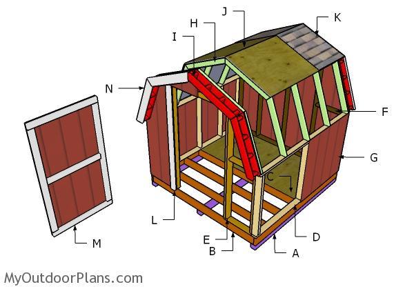 8x8 Short Barn Shed Plans Myoutdoorplans Free
