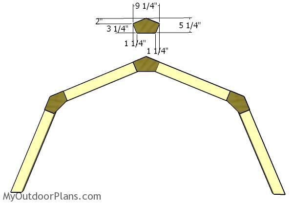 8x8 Short Gambrel Shed Roof Plans Myoutdoorplans Free