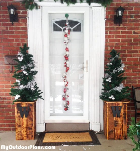 Diy Christmas Tree Planter Boxes Myoutdoorplans Free