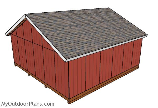 24x24 Gable Shed Roof Plans Myoutdoorplans Free