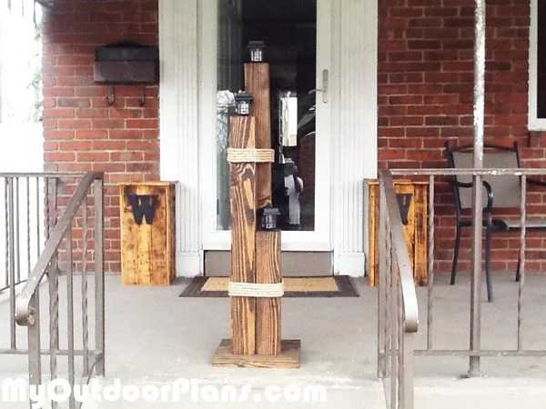 Diy Wood Nautical Lamp Post Myoutdoorplans Free
