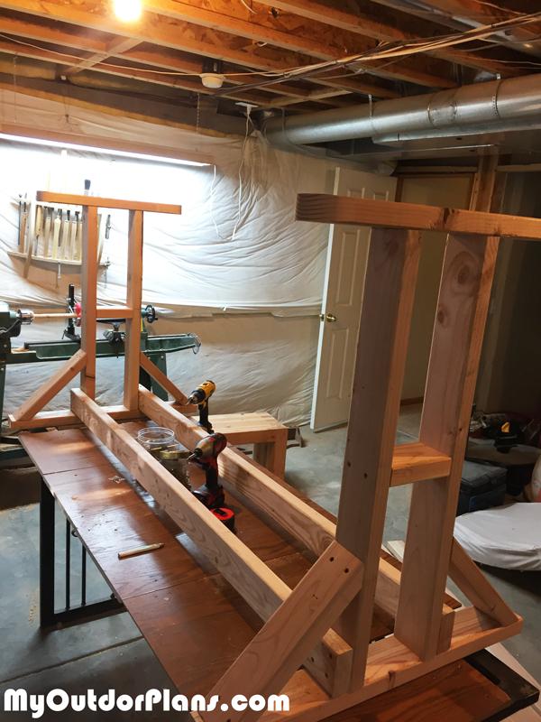 Diy Wood Glider Swing Myoutdoorplans Free Woodworking