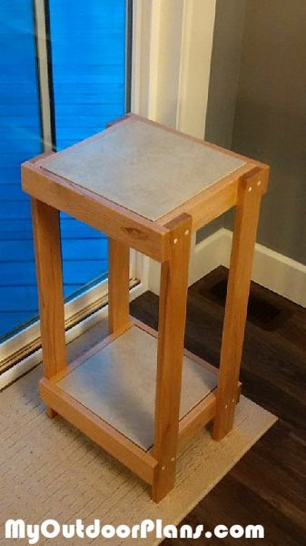 Diy Plant Stand With Tile Inlay Myoutdoorplans Free