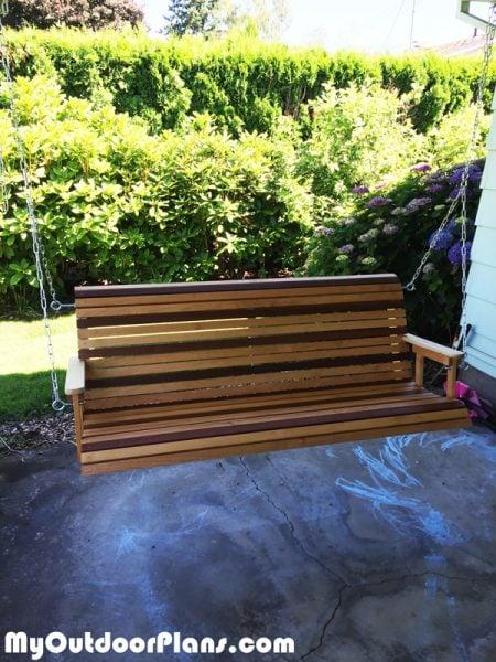 Diy Mahogany And Birch Porch Swing Myoutdoorplans Free