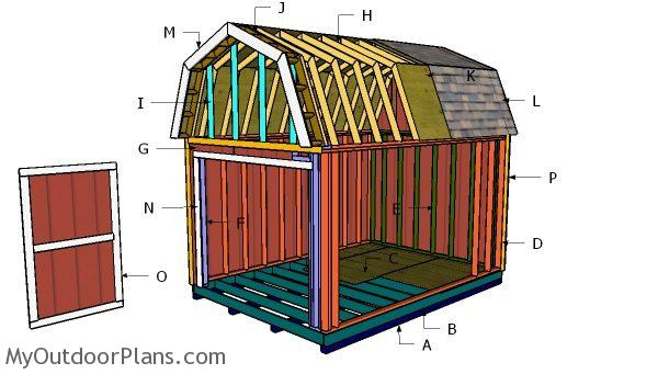 10x14 Gambrel Shed Roof Plans Myoutdoorplans Free