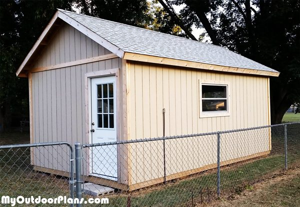 Diy 12x20 Shed Plans Myoutdoorplans Free Woodworking