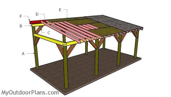 12x24 Lean To Carport Roof Plans Myoutdoorplans Free