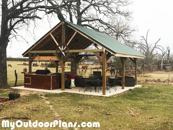 Diy 20x20 Backyard Pavilion Myoutdoorplans Free