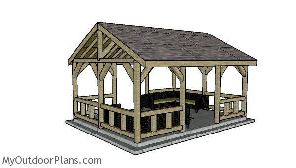 15x20 Pavilion Plans Myoutdoorplans Free Woodworking