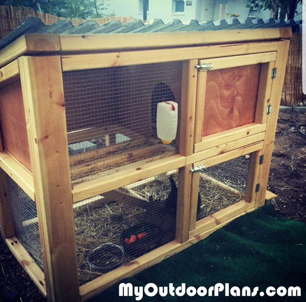 Diy Small Rabbit Hutch Myoutdoorplans Free Woodworking