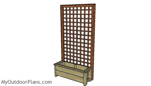 Free Planter Box With Trellis Plans Myoutdoorplans