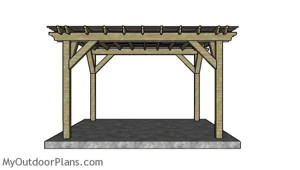 10x12 Pergola Plans Myoutdoorplans Free Woodworking
