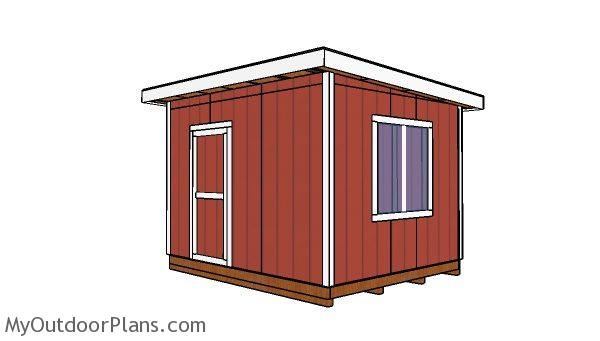 10x12 shed flat roof plans myoutdoorplans free, 10x12 pergola roof plans