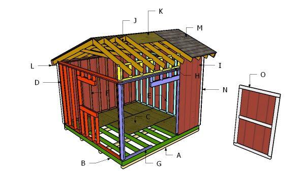 12x12 Saltbox Shed Roof Plans Myoutdoorplans Free