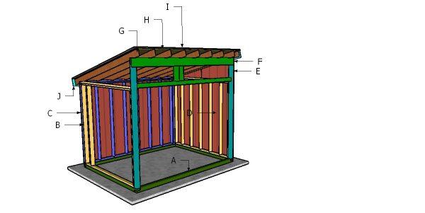 12x14 Run In Shed Roof Plans Myoutdoorplans Free