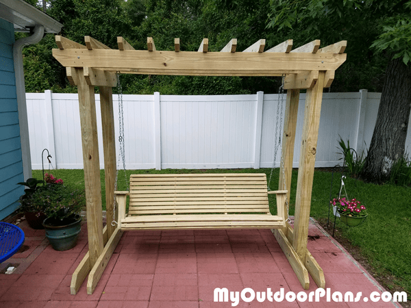 Diy Arbor With Swing Myoutdoorplans Free Woodworking