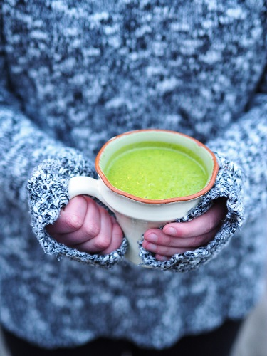 Watercress Soup with Zucchini and Turmeric