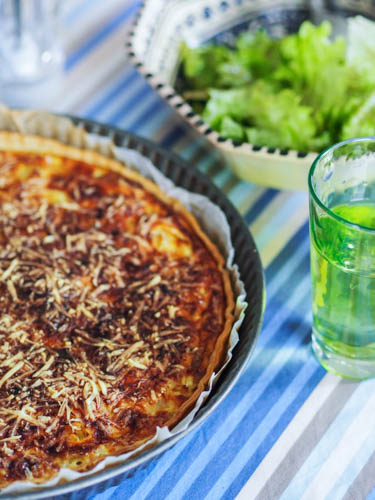Quiche - Smocked haddoch, onion and leek savory tart