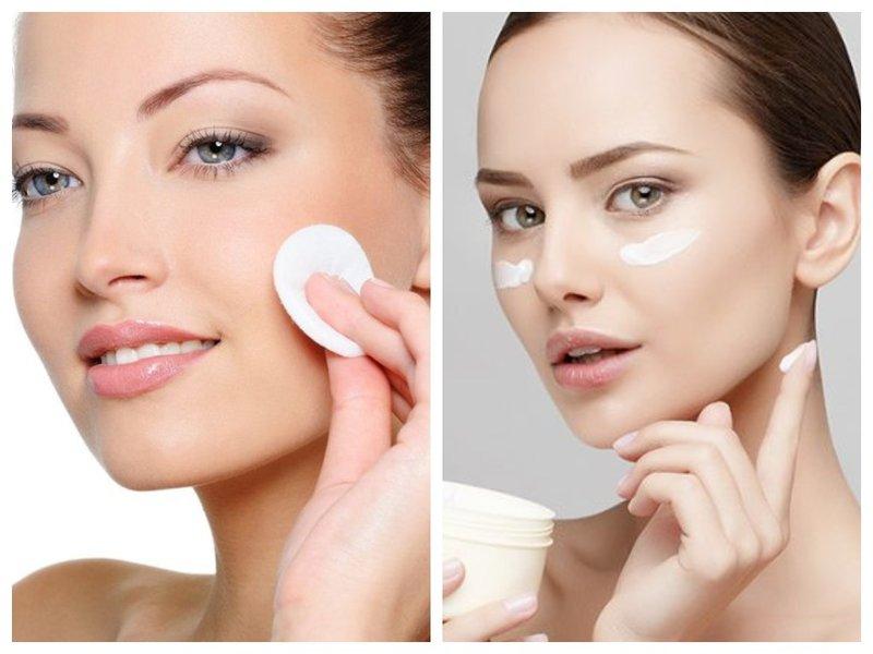 Préparation du visage au maquillage